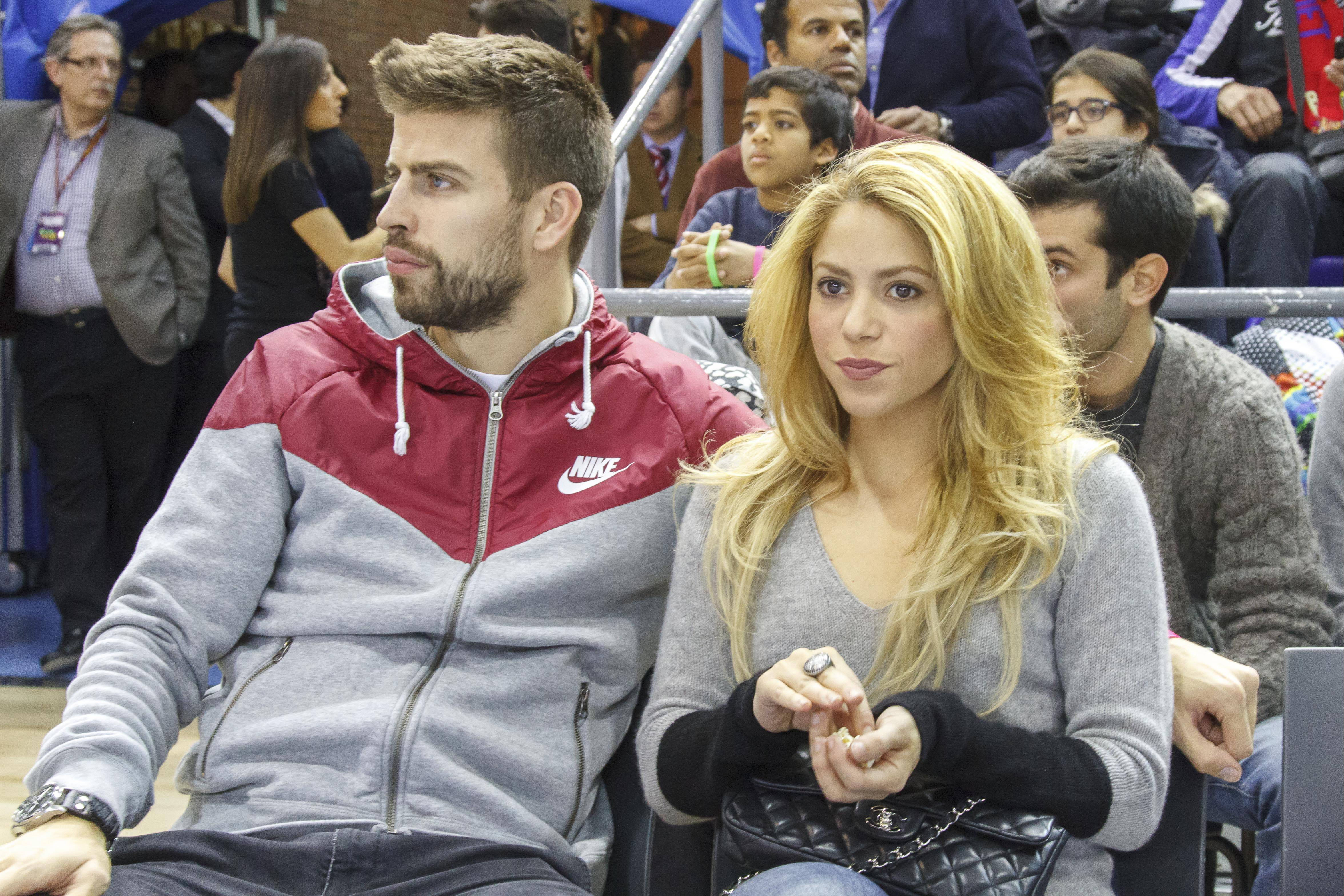 Shakira and Gerard Pique attend a Basketball match in Barcelona